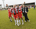24/05/2009  Copyright  Pic : James Stewart.sct_jspa_09_airdrie_v-Ayr.AYR UTD PLAYERS CHRIS AITKEN AND RYAN BORRIS  CELEBRATE AT THE END OF THE GAME.James Stewart Photography 19 Carronlea Drive, Falkirk. FK2 8DN      Vat Reg No. 607 6932 25.Telephone      : +44 (0)1324 570291 .Mobile              : +44 (0)7721 416997.E-mail  :  jim@jspa.co.uk.If you require further information then contact Jim Stewart on any of the numbers above.........