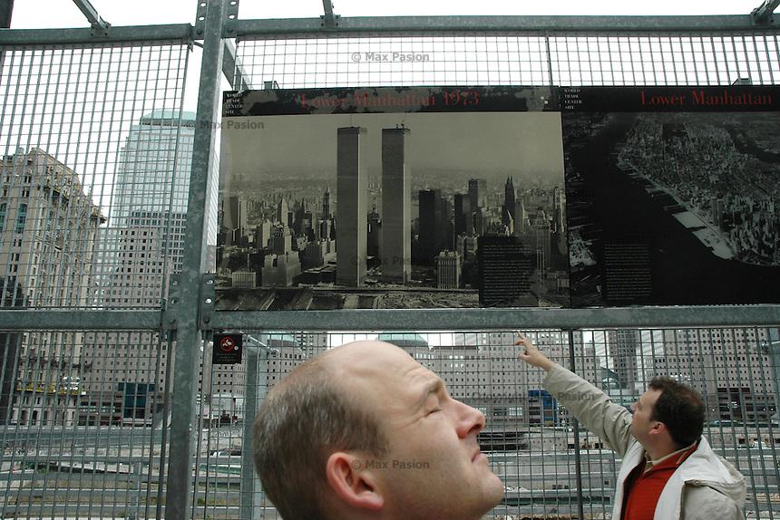 Tourists at Ground Zero; 1219pm, 8May2005