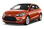 2015 Hyundai I20 Sport 3 Door Hatchback Angular Front stock photos of front three quarter view