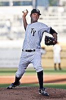 July 24, 2009:  Pitcher David Phelps of the Tampa Yankees delivers a pitch during a game at George M. Steinbrenner Field in Tampa, FL.  Tampa is the High-A Florida State League affiliate of the New York Yankees.  Photo By Mark LoMoglio/Four Seam Images