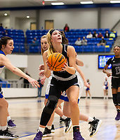 Caroline Lyles (23) of Fayetteville looks to take shot against Rogers at King Arena, Rogers, AR January 8, 2021 / Special to NWA Democrat-Gazette/ David Beach