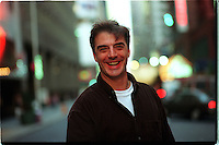 CHRIS NOTH in street clothes, before going inside the Virginia Theatre to become presidential candidate Senator Joseph Cantwell in GORE VIDAL's THE BEST MAN..W. 52 St., NYC.Newsday/ARI MINTZ  9/08/00