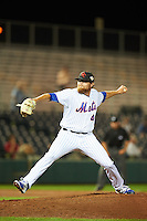Scottsdale Scorpions pitcher David Roseboom (49), of the New York Mets organization, during a game against the Salt River Rafters on October 12, 2016 at Scottsdale Stadium in Scottsdale, Arizona.  Salt River defeated Scottsdale 6-4.  (Mike Janes/Four Seam Images)