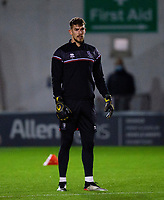 Lincoln City's Alex Palmer during the pre-match warm-up<br /> <br /> Photographer Andrew Vaughan/CameraSport<br /> <br /> EFL Papa John's Trophy - Northern Section - Group E - Lincoln City v Manchester City U21 - Tuesday 17th November 2020 - LNER Stadium - Lincoln<br />  <br /> World Copyright © 2020 CameraSport. All rights reserved. 43 Linden Ave. Countesthorpe. Leicester. England. LE8 5PG - Tel: +44 (0) 116 277 4147 - admin@camerasport.com - www.camerasport.com