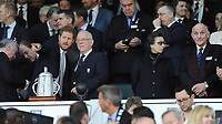 Prince Harry speaks to Peter Baines, president of RFU, as Princess Anne looks away during the RBS 6 Nations match between England and Scotland at Twickenham Stadium on Saturday 11th March 2017 (Photo by Rob Munro/Stewart Communications)