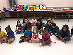 Pre-K and K students at the end of a four-week fine arts camp.
