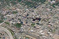 Aerial of downtown Colorado Springs, Colorado. June 2014. 85576
