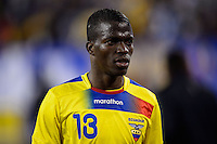 Ecuador midfielder Enner Valencia (13). Argentina and Ecuador played to a 0-0 tie during an international friendly at MetLife Stadium in East Rutherford, NJ, on November 15, 2013.