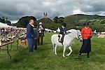 Widecomb Fair Widecombe in the Moor Dartmoor Devon Uk. Prize giving. The church of Saint Pancras.