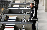Wednesday 05 February 2014<br /> Pictured: Chairman Huw Jenkins watching the training from the stand<br /> Re: Swansea City FC training with Garry Monk as head coach after the departure of Michael Laudrup, at the Li Liberty Stadium, south Wales.