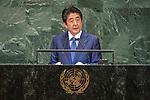 DSG meeting<br /> <br /> AM Plenary General DebateHis<br /> <br /> His Excellency Shinzo ABE Prime Minister of Japan