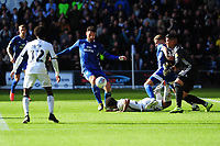 Sean Morrison of Cardiff City in action during the Sky Bet Championship match between Swansea City and Cardiff City at the Liberty Stadium in Swansea, Wales, UK. Sunday 27 October 2019
