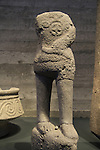 Israel, Jerusalem, statue of the Storm God standing on a bull from the Holy of Holies, Orthostat Temple at Tel Hazor, on display at the Israel Museum