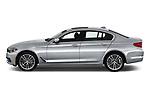 Car driver side profile view of a 2019 BMW 5 Series 540i Sport Line 4 Door Sedan