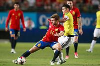 Spain's Asier Illarramendi (l) and Colombia's James Rodriguez during international friendly match. June 7,2017.(ALTERPHOTOS/Acero) (NortePhoto.com) (NortePhoto.com)