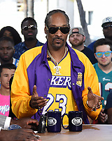"MIAMI BEACH, FL - JANUARY 29: Snoop Dogg on the set of ""Skip & Shannon: Undisputed"" on the Fox Sports South Beach studio during Super Bowl LIV week on January 29, 2020 in Miami Beach, Florida. (Photo by Frank Micelotta/Fox Sports/PictureGroup)"