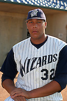Fort Wayne Wizards Kyle Blanks poses for a photo before a Midwest League game at Memorial Stadium on July 17, 2006 in Fort Wayne, Indiana.  (Mike Janes/Four Seam Images)