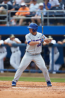 Austin Langworthy (44) of the Florida Gators at bat against the Wake Forest Demon Deacons in the completion of Game Two of the Gainesville Super Regional of the 2017 College World Series at Alfred McKethan Stadium at Perry Field on June 12, 2017 in Gainesville, Florida. The Demon Deacons walked off the Gators 8-6 in 11 innings. (Brian Westerholt/Four Seam Images)