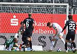 Kevin Behrens (Nr.16, SV Sandhausen) kommt an den Abpraller von Hendrik Bonmann (Nr.39, Wuerzburger Kickers) beim Spiel in der 2. Bundesliga, SV Sandhausen - Wuerzburger Kickers.<br /> <br /> Foto © PIX-Sportfotos *** Foto ist honorarpflichtig! *** Auf Anfrage in hoeherer Qualitaet/Aufloesung. Belegexemplar erbeten. Veroeffentlichung ausschliesslich fuer journalistisch-publizistische Zwecke. For editorial use only. For editorial use only. DFL regulations prohibit any use of photographs as image sequences and/or quasi-video.