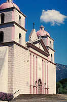 Mission at Santa Barbara, CA. El Camino Real. Santa Barbara California USA.