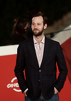 """French actor Benjamin Lavernhe poses on the red carpet for the screening of the film """"Les Discours"""" during the 15th Rome Film Festival (Festa del Cinema di Roma) at the Auditorium Parco della Musica in Rome on October 19, 2020.<br /> UPDATE IMAGES PRESS/Isabella Bonotto"""