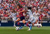 EAST HARTFORD, CT - JULY 5: Alex Morgan #13 of the USWNT dribbles the ball during a game between Mexico and USWNT at Rentschler Field on July 5, 2021 in East Hartford, Connecticut.