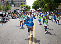 Washington Diamonds Drill Team, Colors of Freedom Parade, 4th of July, Everett, WA, USA.