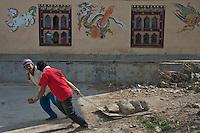 Workers near Thimphu, Bhutan