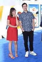 Andy Samberg + Katie Crown @ the premiere of 'Storks' held @ the Regency Village theatre. Westwood, USA, September 17, 2016. # PREMIERE DE 'STORKS' A WESTWOOD