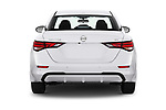 Straight rear view of 2020 Nissan Sentra SV 4 Door Sedan Rear View  stock images