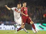 Spain's Alvaro Morata (r) and Germany's Mustafi during international friendly match.November 18,2014. (ALTERPHOTOS/Acero)