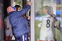 opening the doors pictured before a female soccer game between AA Gent Ladies and Oud Heverlee Leuven on the fourth matchday of play off 1 in the 2020 - 2021 season of Belgian Scooore Womens Super League , saturday 1 st of May 2021  in Oostakker , Belgium . PHOTO SPORTPIX.BE | SPP | STIJN AUDOOREN
