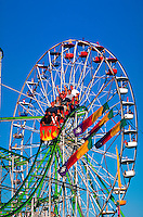 Ferris Wheel and roller coaster at Arizona State Fair
