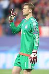 FC Bayern Munchen's Manuel Neuer during Champions League 2015/2016 Semi-Finals 1st leg match. April 27,2016. (ALTERPHOTOS/Acero)
