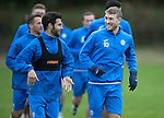 St Johnstone Training….14.10.16<br />David Wotherspon and Richie Foster pictured in training this morning atr McDiarmid Park ahead of tomorrows game against Kilmarnock<br />Picture by Graeme Hart.<br />Copyright Perthshire Picture Agency<br />Tel: 01738 623350  Mobile: 07990 594431