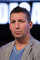 former boxer Eric Lucas  attend the Montreal news conference for the upcoming Badou Jack v Lucian Bute in Washington this month, Wenesday, April 6, 2016.<br /> <br /> Photo : Pierre Roussel<br /> - Agence Quebec Presse