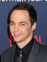 """NEW YORK CITY, NY, USA - MAY 12: Jim Parsons at the New York Screening Of HBO's """"The Normal Heart"""" held at the Ziegfeld Theater on May 12, 2014 in New York City, New York, United States. (Photo by Celebrity Monitor)"""