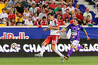 Harrison, NJ - Wednesday Aug. 03, 2016: Damien Perrinelle, Kendell Herrarte during a CONCACAF Champions League match between the New York Red Bulls and Antigua at Red Bull Arena.