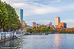 Autumn on the Charles River Esplanade, Boston, Massachusetts, USA