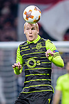 Jeremy Mathieu of Sporting CP in action during the UEFA Europa League quarter final leg one match between Atletico Madrid and Sporting CP at Wanda Metropolitano on April 5, 2018 in Madrid, Spain. Photo by Diego Souto / Power Sport Images