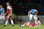 St Johnstone v Rangers…28.12.16     McDiarmid Park    SPFL<br />Liam Craig has a go at Jason Holt<br />Picture by Graeme Hart.<br />Copyright Perthshire Picture Agency<br />Tel: 01738 623350  Mobile: 07990 594431