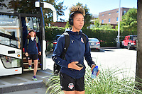 Houston, TX - Sunday Oct. 09, 2016: Estelle Johnson prior to a National Women's Soccer League (NWSL) Championship match between the Washington Spirit and the Western New York Flash at BBVA Compass Stadium.