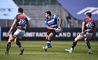 18th April 2021 2021; Recreation Ground, Bath, Somerset, England; English Premiership Rugby, Bath versus Leicester Tigers; Josh Matavesi of Bath passes down the line