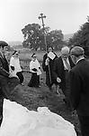 Eyam Plague Memorial Service.  Eyam, Derbyshire, England 1973.