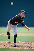 Pittsburgh Pirates pitcher Pasquale Mazzocoli (46) during an Instructional League Intrasquad Black & Gold game on September 28, 2016 at Pirate City in Bradenton, Florida.  (Mike Janes/Four Seam Images)