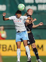 Chicago Red Stars forward Cristina Silva (11) heads the ball.   Washington Freedom tied with The Chicago Red Stars 0-0 at RFK Stadium, Saturday June 13, 2009.