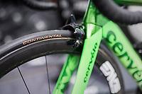 Mark Cavendish's  (GBR/Dimension Data) customised Cervélo S5<br /> <br /> 104th Tour de France 2017<br /> Stage 1 (ITT) - Düsseldorf › Düsseldorf (14km)