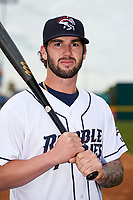 Binghamton Rumble Ponies Tomas Nido (7) poses for a photo before a game against the Akron RubberDucks on May 12, 2017 at NYSEG Stadium in Binghamton, New York.  Akron defeated Binghamton 5-1.  (Mike Janes/Four Seam Images)