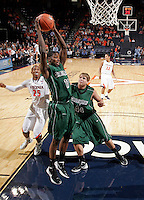 CHARLOTTESVILLE, VA- NOVEMBER 26:  Jarvis Williams #11 of the Green Bay Phoenix grabs a rebound during the game on November 26, 2011 at the John Paul Jones Arena in Charlottesville, Virginia. Virginia defeated Green Bay 68-42. (Photo by Andrew Shurtleff/Getty Images) *** Local Caption *** Jarvis Williams