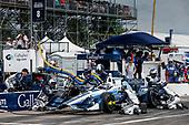 2017 Verizon IndyCar Series - Firestone Grand Prix of St. Petersburg<br /> St. Petersburg, FL USA<br /> Sunday 12 March 2017<br /> Max Chilton pit stop<br /> World Copyright:Sam Cobb/LAT Images<br /> ref: Digital Image cobb-stpete-170312-4394